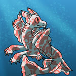 Candy cane kelp sea dragon by OmegaWolfDoge
