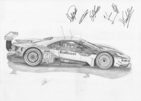 Ford GT - 2016 - WEC by WaldherrArt