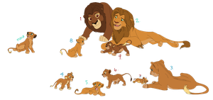 Lion Fam Adopts {closed} by LionsoftheGrasses