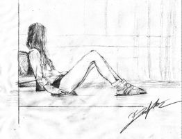 The Lonely Girl by tebertan