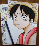 One Piece - Luffy by GR-the-queen