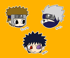 Obito and Kakashi and Tenzo by OysteIce