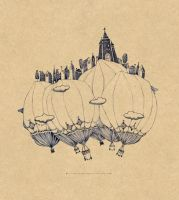 Balloon small city by Sithzam