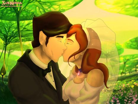 Kappa Lizzy and General Iroh Kiss by SolKorra