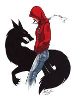 Red Riding Hoody by thrivis