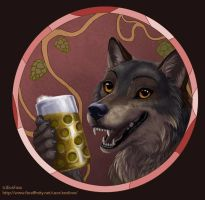Wolves and beer by EosFoxx