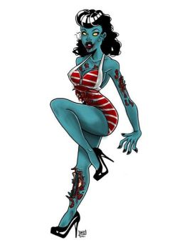 Zombie Pin Up by THEantastic