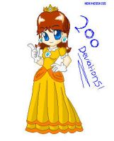 Princess Daisy .:pixel:. by Hero-of-Awesome