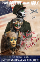 WWII Air Corps Poster by CalSparrow