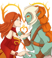 Commission - Fire heart by keterok