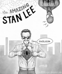 The Amazing Stan Lee (INKtober Day 24) by SLMGregory