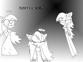 Fight for your life  lineart by XxMelissa-StarxX