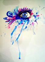 Water color eye painting by sisiohio