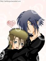 .r a k u e n -Zexion and Demyx by PetitAnge
