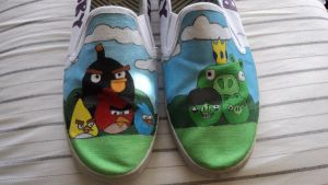 Angry Birds Shoes by Illicit-Diamonds