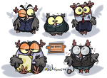 Office Owls by Bobbart