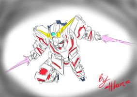 Gundam Unicorn D. mode draft by Twilight-Hikari