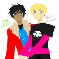 Male!Jade and Rose by poisodon