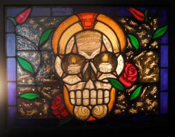 Rock'n'Roll Sugarskull by tomtattooglass
