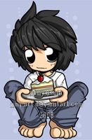 L - Death Note mmm cake by amy-art