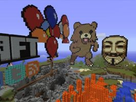 Pedobear Guy Fawkes Mask by Cyael