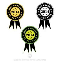 Best product of the year vector stickers by publicdomainvectors