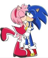 sonamy kiss (sonic x style, 2nd version, 3rd look) by trueloveheart94