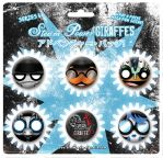 Steam Powered Giraffe Buttons Series V by BunnyBennett