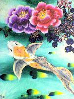 Koi Flowers by Lacesal