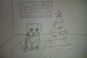 Puppy Christmas by GaaraxHinata6666