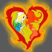 Flame Princess and Finn by fionnceline