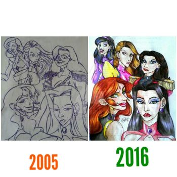 ReDrawing. Pirate Grils. by DemonCartoonist