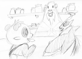 Beartic Cafe sketch by Inspectornills