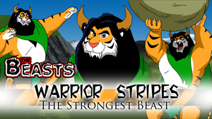 Commission - Beasts Wallpaper 9 - Warrior Stripes by BennytheBeast