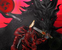Medieval Knight-  Madara and Alduin by BittersweetHorizon