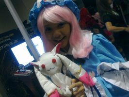 Kyubey and Yuyuko by MissNellie