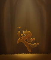 The Leaf Falls Before the Apple by SonicSketch
