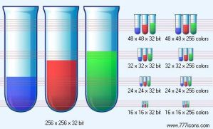 Test tubes Icon by science-icons