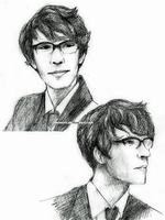 Skyfall: Q Sketches by Mimint