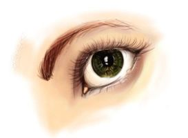 Tablet Painting-Eye by HanBO-Hobbit