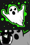 Day 1 Drawlloween: Ghost by ToaLittleboehn