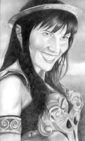 Lucy Lawless as Xena by chakkers