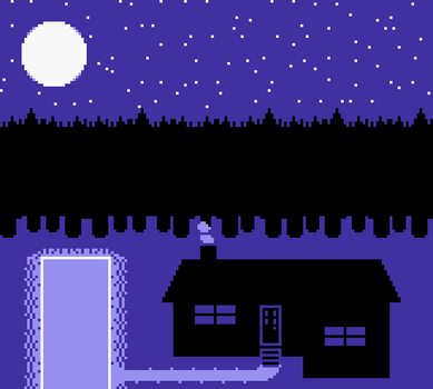 Cabin at Night (2013) by impiaaa