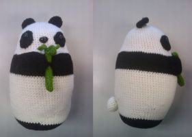Amigurumi Panda with Removable Bamboo by Oni4219
