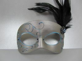 Winter Inspired Masquerade Mask by maskedzone