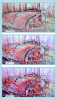 The old car in the forest by LORETANA