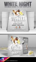 White Night Party Flyer Template by AnotherBcreation