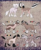 Chinese Crested Litter 1 -CLOSED- by SummonAdopts