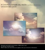 Colorful Sky Stock by cindysart-stock by CindysArt-Stock