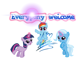 Welcome banner by RainbowDashie